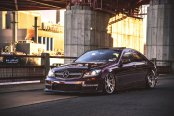 Red Mercedes C Class Done Right: Stanced and Awesome