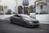 Gray Mercedes C Class Done Right and Fitted with Blacked Out Grille