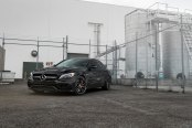 Red Center Caps and Calipers Add Lots of Visual Candy to All Black Mercedes C Class