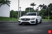 Unique and Likable: White Mercedes C Class Benefits From Custom Exterior Touches