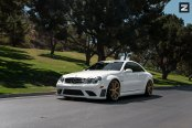 Good As Gold- White Mercedes CLK Class on Zito Wheels