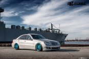 Mercedes E-Class Couldn't Get More Stylish: Silver and Lowered Boasting Aftermarket Parts