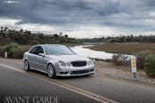 Silver Mercedes E-Class Gets a Tocuh of Style with Chrome Avant Garde Wheels and Other Parts