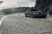 Elegance Knows No Limits on Black Mercedes E Class with Carbon Graphite Vorsteiner Wheels