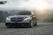 Vorsteiner Rims Wrapped in Hankook Tires Enhance Black Mercedes E Class