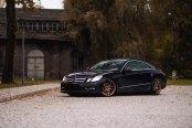 Black Mercedes E Class Rolling on Bronze JR Wheels