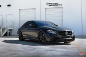 Sinister Never Looked So Good: Matte Black Mercedes E Class with Custom Parts