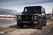 Imposing Face of Black Mercedes G Class Enhanced with Aftermarket Grille Guard
