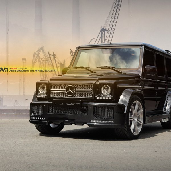 supercharged brick mercedes g63 amg on aftermarket rims photo by adv1