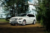 Luxurious White Mercedes GL Class on Vellano Wheels Wrapped in Pirelli Tires