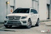Extravagant White Mercedes GL Class with Modern LED Lighting