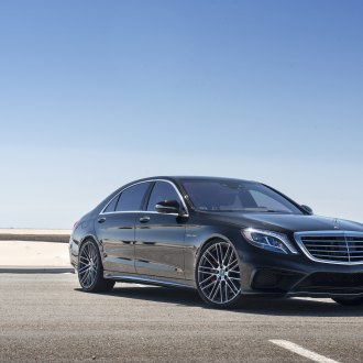 Black Mercedes S Class with Chrome Billet Grille - Photo by Mandrus Wheels