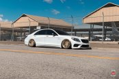 Lowered to the Ground White Pearl Mercedes S Class