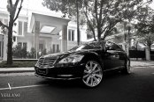 Classy Black Mercedes S-Class on Forged Rims