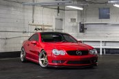Impressive Custom Work on Candy Red Mercedes S Class