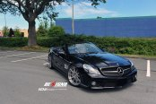 Luxury Doesn't Get Better: Black Convertible Mercedes SL Class with Custom Parts
