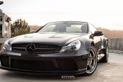Blacked Out Grille and Vented Hood on Custom Mercedes SL-Class