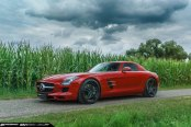 Red Mercedes SLS Rocking a Set of Matte Black ADV1 Wheels