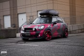 Truly Unique Custom Paint on Mini Countryman with Roof Rack that Grabs Attention