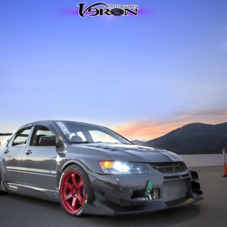 Race Ready Gray Mitsubishi Evolution Customized to Perform