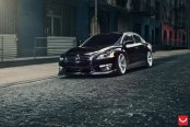 Impeccable Nissan Altima Enhanced With Gorgeous Rims by Vossen