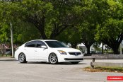 Low And Clean Nissan Altima Fitted With Classy Custom Wheels by Vossen