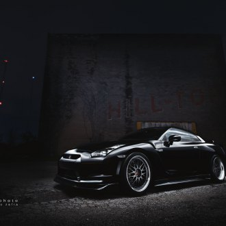 Murdered Out Godzilla: GT-R Wearing a Custom Body Kit