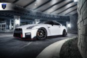 Spruced Up White Nissan GT-R on Rohana Wheels with Michelin Tires