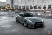 Gray Nissan GT-R Customized for a Racer Look