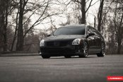Stanced Nissan Maxima Enhanced With Stylish Custom Wheels by Vossen
