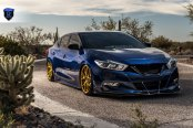 Gold Rohana Wheels Add a Touch of Luxury to Blue Nissan Maxima