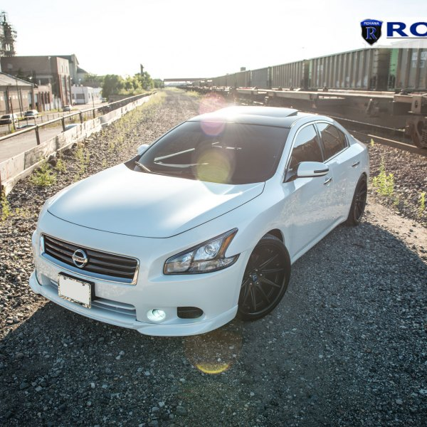 Custom 2014 nissan maxima images mods photos upgrades carid gorgeous white nissan maxima with perfectly fitted rohana wheels photo by rohana wheels voltagebd Images