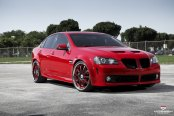 Make Over of Red Pontiac G8 Equipped With Vossen Custom Wheels