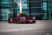 Unique Look of Purple Porsche 911 Thanks to Aftermarket Body Kit and Custom Rims