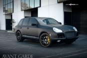 Mysterious Looks of Black Matte Porsche Cayenne Fitted with Custom Parts