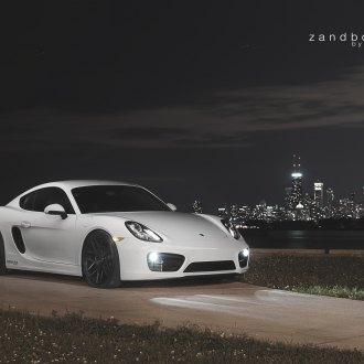 Crystal Clear Halo Headlights On White Porsche Cayman   Photo By Zandbox