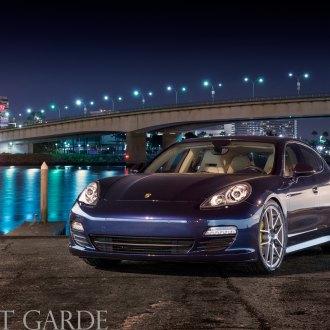 Night Blue Porsche Panamera On M510 Rims