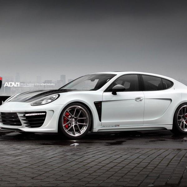 Custom Body Kit On White Porsche Panamera Photo By Adv 1