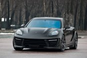 Mysterious Nature of Blacked Out Porsche Panamera on Gunmetal ADV1 Wheels