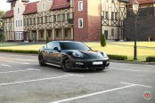 Forged Vossen Rims Revealing Sporty Nature of Black Porsche Panamera