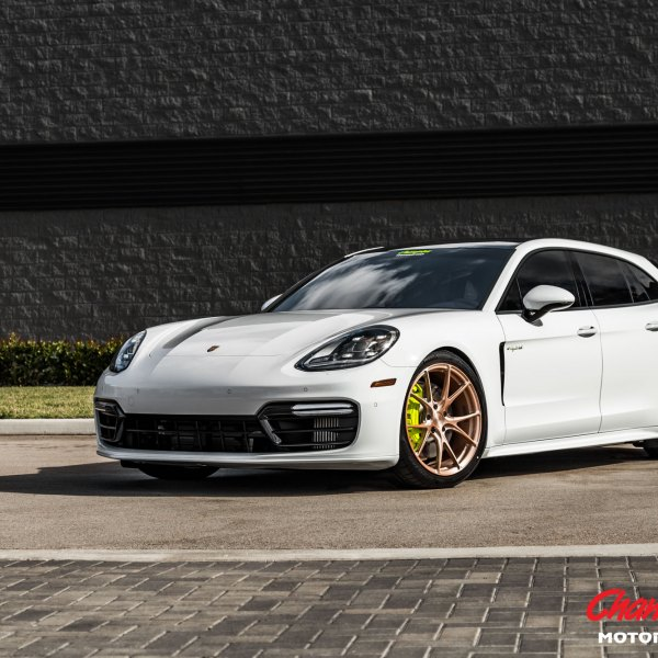 Dark Smoke Projector Headlights On White Porsche Panamera Photo By Vossen
