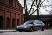 Customized Gray Renault Laguna Stands Out on the Road