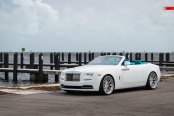 Automobile that Turns Heads: Rolls Royce Dawn Convertible with Custom Interior