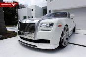 Bossy Face of White Rolls Royce Ghost with Chrome Billet Grille on