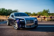 VIP Ride Steals Attention: Blue Rolls Royce Ghost Wearing Chrome Grille