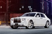 King of All Cars: White Rolls Royce Phantom with Aftermarket Parts