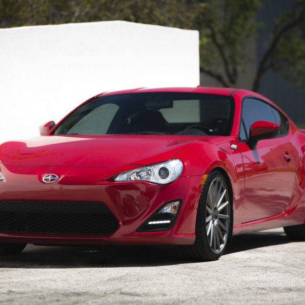 Red Scion FRS with Crystal Clear Headlights - Photo by Vossen