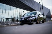 Black Seat Leon Sits Well on JR Rims with Brembo Brakes