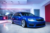 Custom Parts Giving Blue Skoda Octavia a Distinctive Appearance