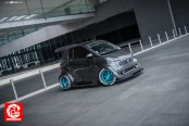 Gray Smart-Car Fortwo with Ultra- Modern Touch with Custom Body Kit and More
